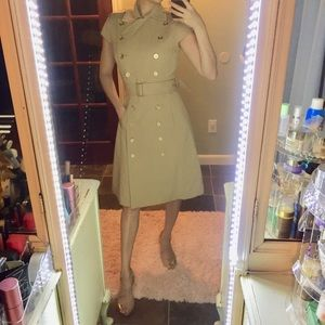 Calvin klein sleeveless trench coat dress size 2